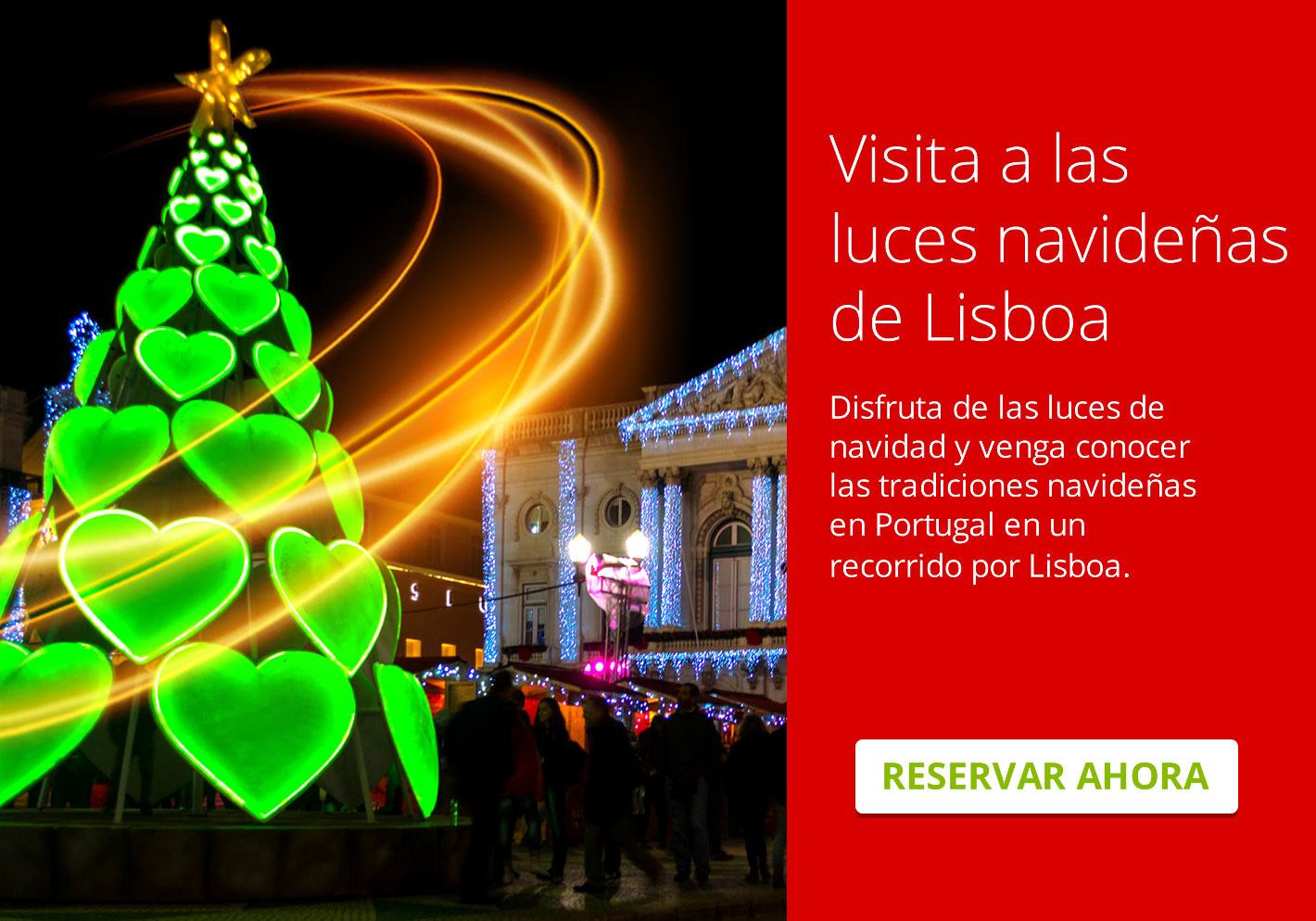 Visita a las luces navideñas de Lisboa