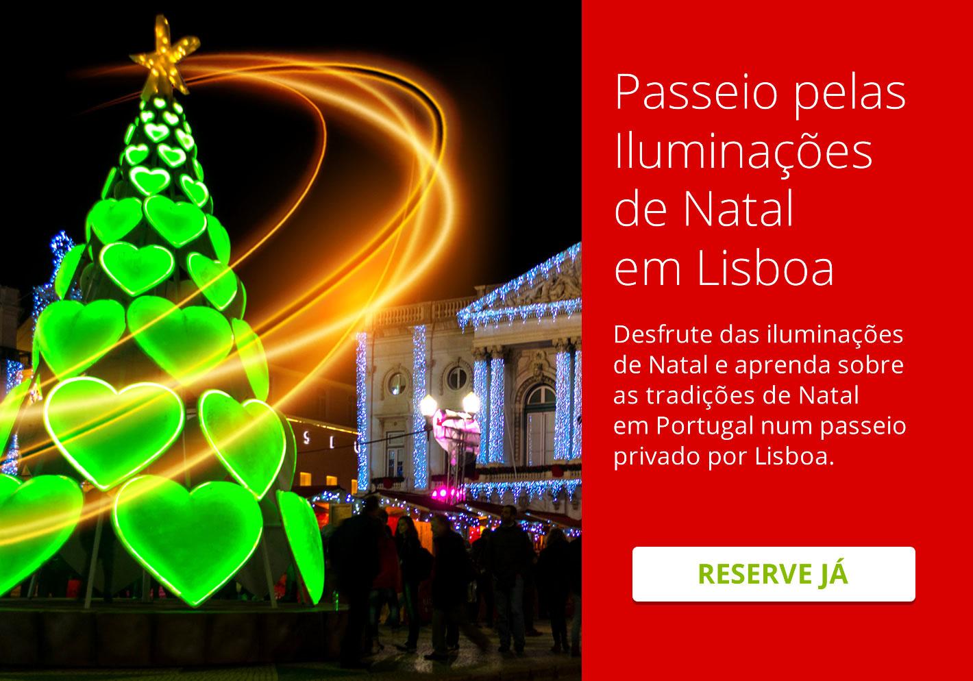 Passeio pelas Iluminações de Natal em Lisboa