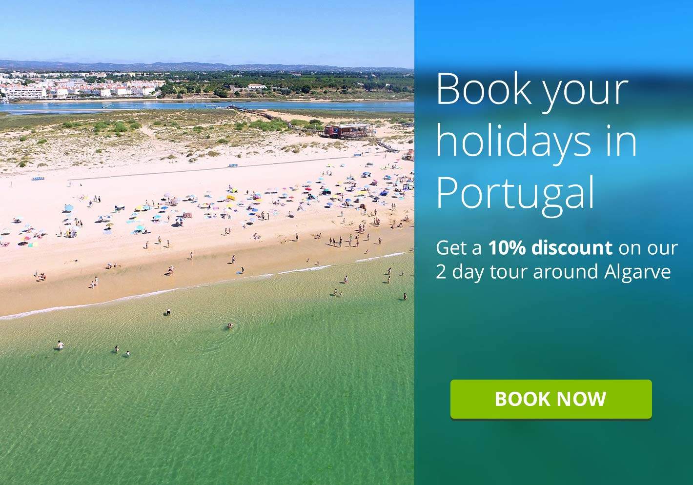 Get a 10% discount on our 2 day tour around Algarve