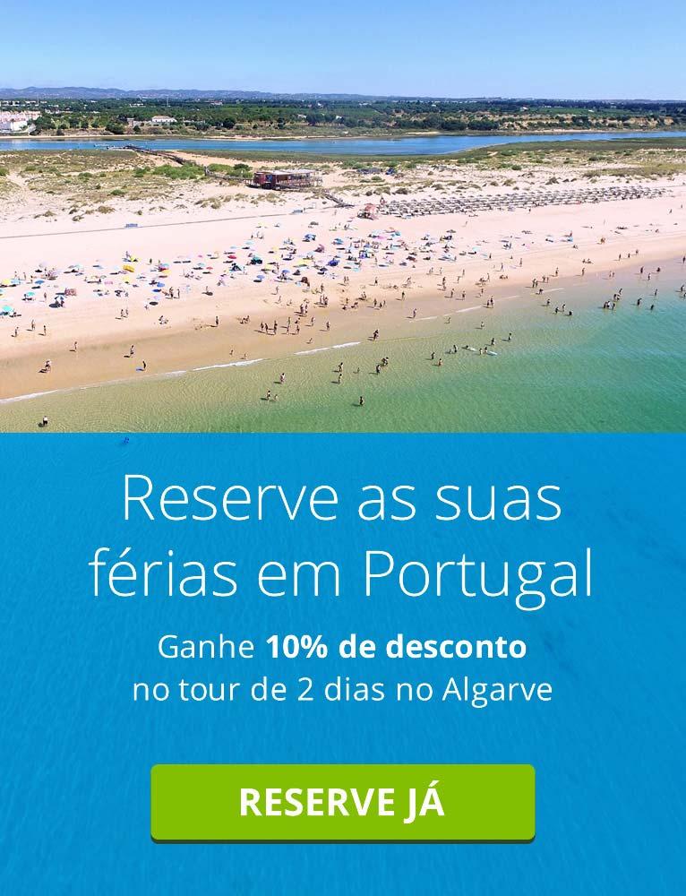 Ganhe 10% de desconto no tour de 2 dias no Algarve