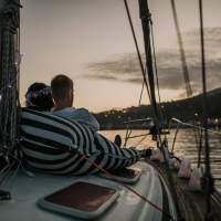 Passeio velerio à noite